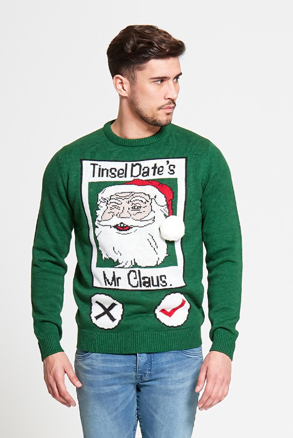 Green xmas jumper