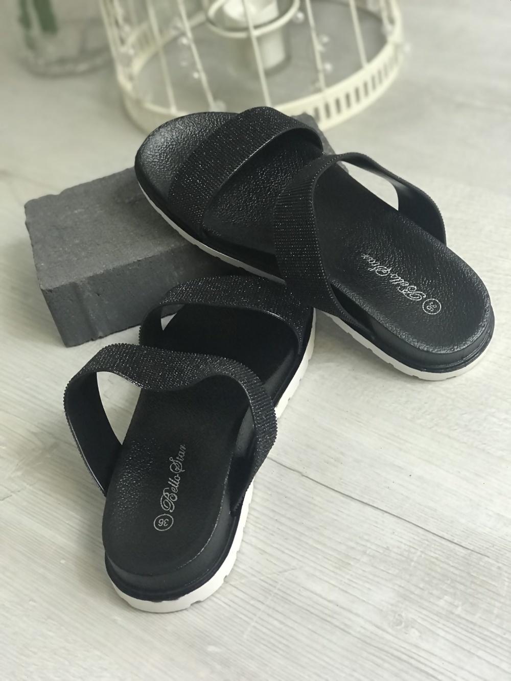 475c69071a9bb Black Glitter Sparkly Sandals