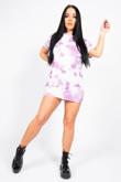 Lilac Tie Dye Oversized T-Shirt Dress
