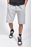 Mens Grey Zip Pocket Jersey Shorts