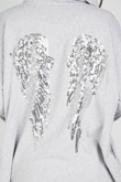 Grey Sequin Angel Wings Hooded Cardigan