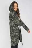 Camo Sequin Rock And Roll Hooded Cardigan