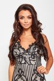 Black Lace Nude Underlay Playsuit