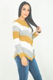Mustard Chevron Knitted Jumper