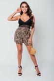 Arianna Ajtar Modelled Black Floral Lace Bralet