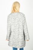 Monochrome Leaf Print Coat