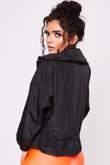 Black Hooded Festival Jacket