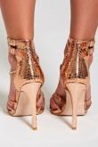 Rose Gold Snake Skin Heels
