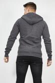 Mens Charcoal Fleece Zip Up Hoody