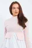 Baby Pink Frill Shirt Hem Top