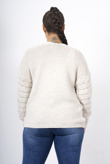 Beige bobble knit cardigan