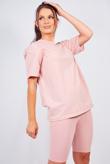 Dusty Pink Oversized T-shirt And Cycling Shorts Lounge Set