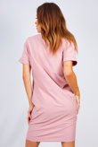Rose Oversized Ye Saint Slogan Tee Dress