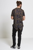 Mens Charcoal Fish Tail Camo T-Shirt
