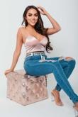 Arianna Ajtar Blush Satin Strap Bralet