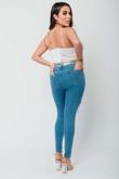 Arianna Ajtar Modelled White Satin Strap Bralet