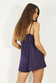 Purple Glitter Strappy Playsuit