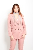 Baby Pink Double Breasted Blazer