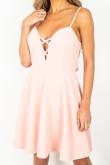 Pink Knot Back Skater Dress