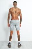 9002- Mens Grey Faded Turn Up Shorts