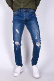 Mens Denim Knee Cut Skinny Jeans