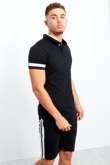 Black And White Panel Detailed T-shirt And Shorts Set