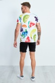 Mens Fruit Printed Vibes White T-shirt