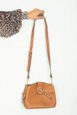 Camel Ring Detail Cross Body Bag