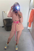 Baby Pink Tailored Suit Trousers