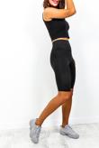 Black High Waist Sculpt Cycle Shorts