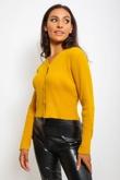 Mustard Lightweight Rib Knit Cardigan