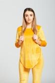 Yellow Velvet Look Loungewear set