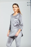 Grey Velvet Look Loungewear set-Copy