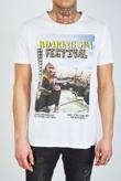Mens White Roaring Festival Crew Neck T-Shirt