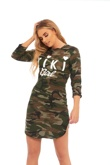 Khaki Camo Kiki Girl Mini Dress
