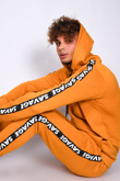 Mens Mustard Savage Tape Detail Hooded Skinny Tracksuit