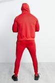 Mens Red Diamond Greek Side Stripe Tracksuit