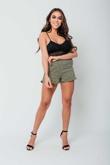 Arianna Ajtar Yellow Tartan High Waisted Frill Shorts