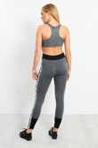 Charcoal Pro Sports Activewear Leggings With Contrasting Detail