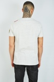 Mens Grey Food Feast Printed Crew Neck T-Shirt