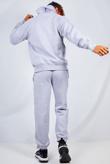 Mens Grey Basic Pullover Hood Tracksuit