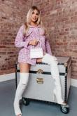 Hayley Hughes Modelled Lilac Brushed Animal Print Shacket