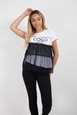 Coco Wahine Mesh Overlay T-Shirt