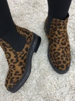 Leopard Suede Classic Chelsea Boot With Stud Detail