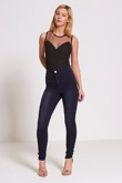 Black Mesh Sleeveless Bodysuit