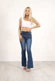 Denim Tie Up Detail Flares
