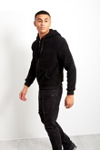 Mens Black Borg Hood Jacket