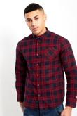 Mens Red Check Shirt