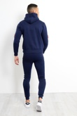 Mens Navy Tricot Skinny Fit Tracksuit