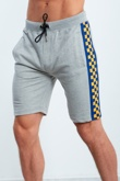 Grey Dominion Panel Jersey Shorts